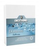 DecoKing – Prześcieradło Jersey - Diamond - Biały