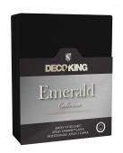 DecoKing – Prześcieradło Jersey - Emerald - Czarny