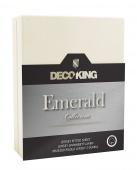 DecoKing – Prześcieradło Jersey - Emerald - Ecru