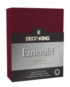 DecoKing – Prześcieradło Jersey - Emerald - Bordowy