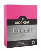 DecoKing – Prześcieradło Jersey - Emerald - Purpurowy
