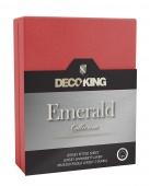 DecoKing – Prześcieradło Jersey - Emerald - Czerwony