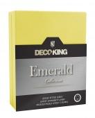 DecoKing – Prześcieradło Jersey - Emerald - Żółty