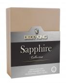 DecoKing – Prześcieradło Jersey - Sapphire - Beżowy