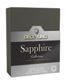 DecoKing – Prześcieradło Jersey - Sapphire - Grafitowy