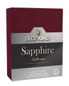 DecoKing – Prześcieradło Jersey - Sapphire - Bordowy