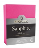 DecoKing – Prześcieradło Jersey - Sapphire - Purpurowy