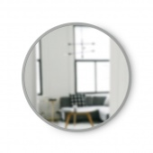 Umbra - Lustro ścienne 46 cm Okrągłe Szare HUB