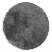 Dywan dekoracyjny ze średnim włosiem Szary Miękki Okrągły 80 cm MODERN CHIC