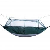 DecoKing - Hamak z siatką na komary Ciemnozielony 260x140 cm