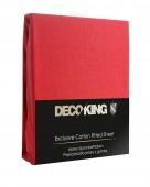 DecoKing – Prześcieradło Jersey + Gumka - Czerwony
