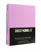 DecoKing – Prześcieradło Jersey + Gumka - Wrzosowy