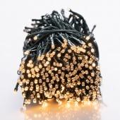 DecoKing – Lampki choinkowe świetlne LED - Kryształy - Światło ciepłe białe, pulsacyjne, 1993 cm