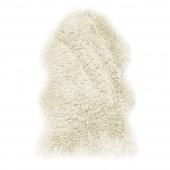 Dywan Shaggy z długim włosiem Sztuczne Futro Miękki Kremowy do salonu FLUFFY