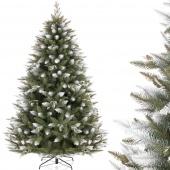 Choinka świąteczna ośnieżona sztuczna Szyszki Świerk GREAT