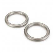 Umbra - Pierścienie magnetyczne do zasłon 2 szt. Srebrne HALO