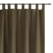 Zasłony dekoracyjne na szelkach Oxford Tie Back 140x250 cm Khaki ELEGANTE