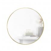 Umbra - Lustro ścienne 86 cm Okrągłe Złote HUBBA