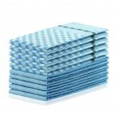 DecoKing - Zestaw ścierek kuchennych Niebieski 10 szt. LOUIE