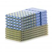 DecoKing - Zestaw ścierek kuchennych Niebiesko-żółty 10 szt. LOUIE