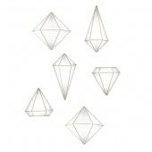 Umbra - Dekoracje ścienne Geometryczne 6  szt. Złote PRISMA