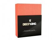 DecoKing – Prześcieradło Frota + Gumka - Koralowy