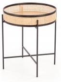 Stylowy stolik kawowy do salonu na taras Rattanowy Okrągły APIS