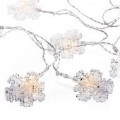 Lampki świąteczne Klipsy LED Śnieżynki Ozdoba na baterie