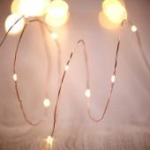 DecoKing - Girlanda świetlna LED na drucie miedzianym