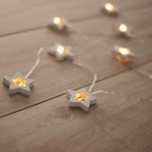 DecoKing - Dekoracyjne lampki - Drewniane gwiazdki