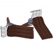 Zestaw wieszaków na ubrania do szafy garderoby Drewniane Brązowe SHAPE