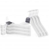 Zestaw wieszaków na ubrania do szafy garderoby Drewniane Białe SHAPE