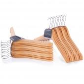 Zestaw wieszaków na ubrania do szafy garderoby Drewniane Naturalne drewno SHAPE