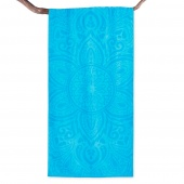 DecoKing – Ręcznik Plażowy Bawełniany Turkusowy MANDALA