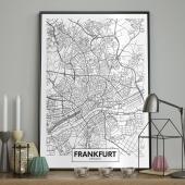 DecoKing - Plakat ścienny – Map - Frankfurt