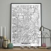 DecoKing - Plakat ścienny – Map - Munich
