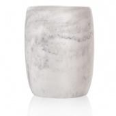 Sorema – Kubek łazienkowy Srebrny MARBLE