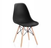 Krzesło Skandynawskie Czarne MARGOT