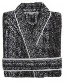 Sorema - Nowoczesny szlafrok bawełniany MAZE Czarny