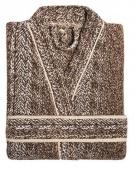 Sorema - Nowoczesny szlafrok bawełniany MAZE Brązowy