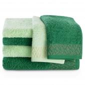 Zestaw ręczników kąpielowych Bawełnianych ze złotym zdobieniem Pistacjowy i Zielony MIDAL