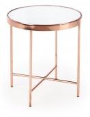 Elegancki stolik kawowy Okrągły Szklany Blat GOYA