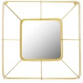 Lustro ścienne wiszące złote Art Deco SCHEMA