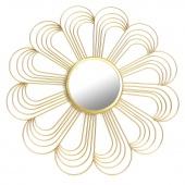 Lustro Ścienne Wiszące Złote Dekoracyjne Kwiat Art Déco SOLA