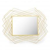 Lustro ścienne Wiszące Geometryczne Glam Złote TALO