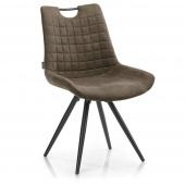 Nowoczesne krzesło tapicerowane z pikowaniem Cappuccino ELAFONIS