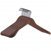 Zestaw drewnianych wieszaków do szafy Profilowane wieszaki Brązowe HANG