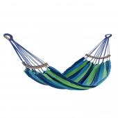 Stylowy Hamak do ogrodu lub salonu Niebiesko-zielony PUERTO