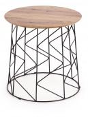 Nowoczesny stolik kawowy do salonu Industrialny Orzech MADS
