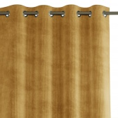Zasłona na przelotkach zaciemniająca sztruksowa Musztardowa 140x250 HOBBO